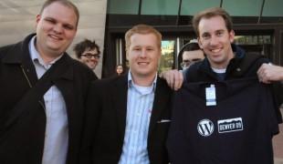 Alex King, Devin Reams, and Matt Richmond at WordCamp Denver